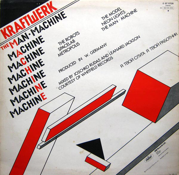 The Man Machine LP Back Cover