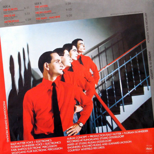 The Man Machine LP Inside Sleeve Side 2