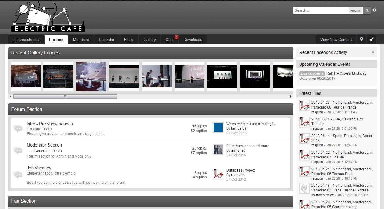 ElectricCafe Forum Website