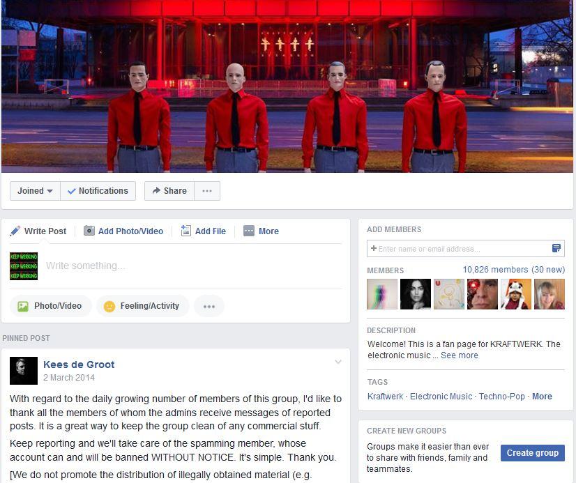 Facebook Group Website