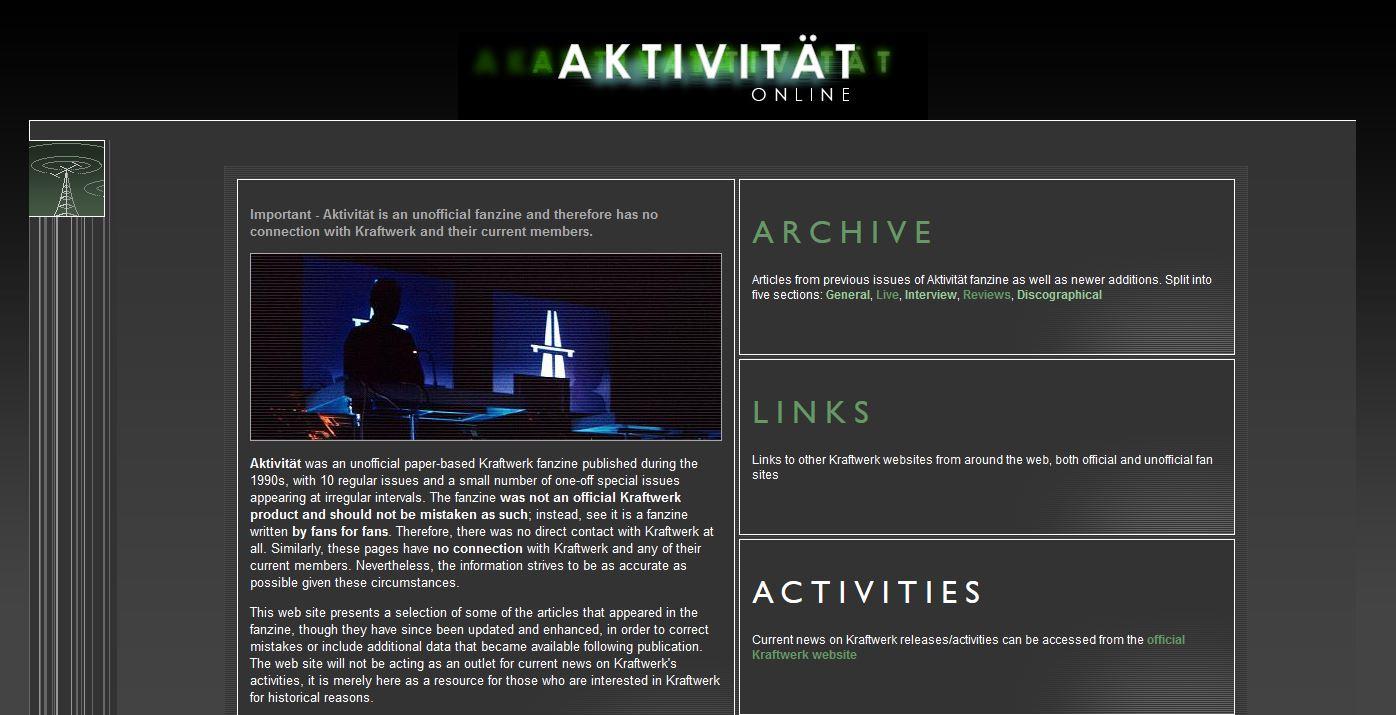 Aktivität Fanzine Website